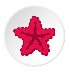 Starfish icon circle vector
