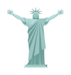Statue of liberty is cheerful happy landmark vector