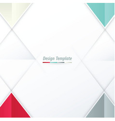 Template triangle design white red green gray vector