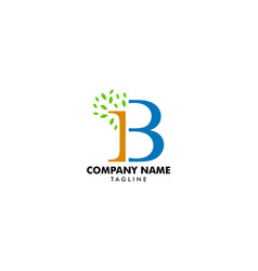 Tree letter ib logo template vector