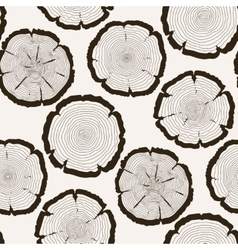 Tree rings cut trunk seamless pattern vector