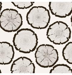 tree rings cut trunk seamless pattern vector image