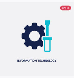 two color information technology icon from vector image