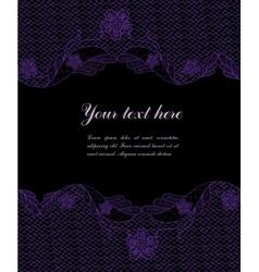 dark vintage lacy border vector image