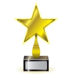 golden star award vector image vector image
