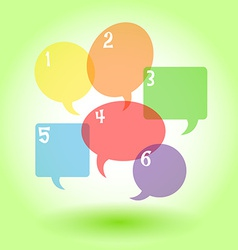 Transparent speech bubbles with numbers vector image vector image