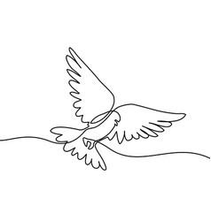 flying pigeon logo vector image vector image