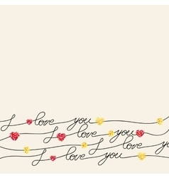 Hand lettering calligraphy vector image vector image