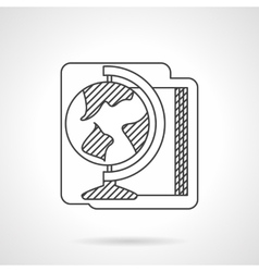 School supplies flat line style icon vector image