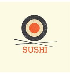 Sushi menu design template vector