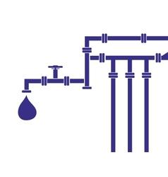Water pipeline vector