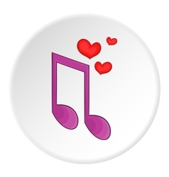 Love song icon cartoon style vector image