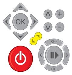 Remote control set vector image vector image