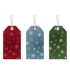 snowflake gift tags vector image vector image