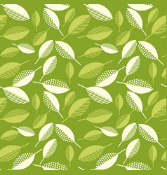 spring green leaves abstract seamless pattern vector image vector image