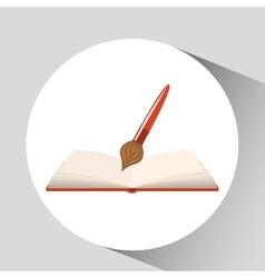 book open paint brush concept school graphic vector image