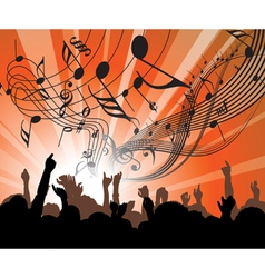 concert poster vector image vector image