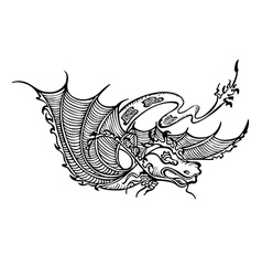 dragon decorative vector image