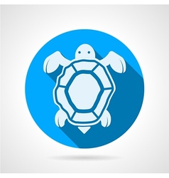 Sea turtle flat round icon vector image vector image