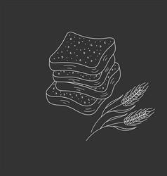 sliced bread vector image vector image