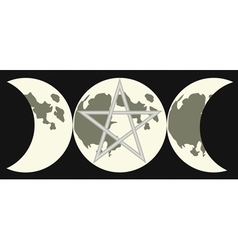 triple goddess sign vector image vector image