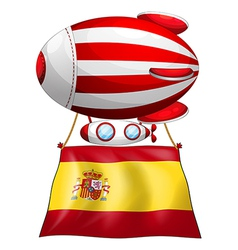 a floating balloon with the flag of spain vector image
