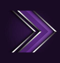 abstract violet silver line arrow direction design vector image