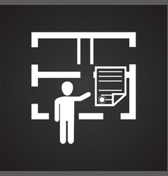 architector on black background vector image