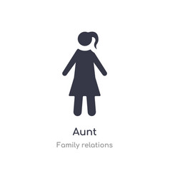 Aunt icon isolated icon from family vector