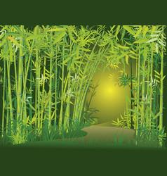 Bamboo forest scene vector