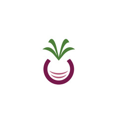 beet icon logo symbol element vector image