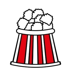 Bucket pop corn cinema graphic outline vector