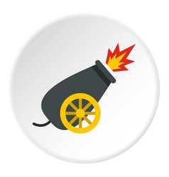 Cannon in the circus icon circle vector