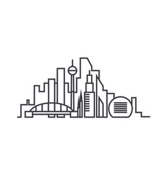 city skythin line thin line icon concept city vector image