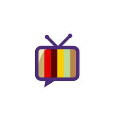 color television logo vector image