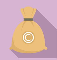 company money bag icon flat style vector image
