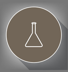 conical flask sign laboratory glass sign vector image