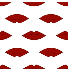 Cool Sexy Seamless Lips vector image