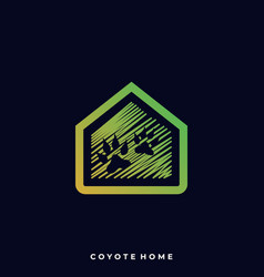 coyote home template vector image