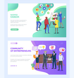 Cozy coworking center community entrepreneurs vector