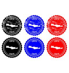 Crete rubber stamp vector