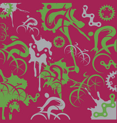 Cyclists and cycling components expressive back vector