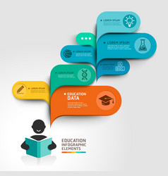 Education Infographics step option vector