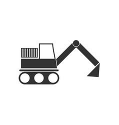 excavator icon flat vector image