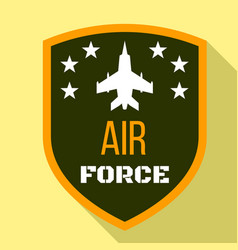 Fighter air force logo flat style vector