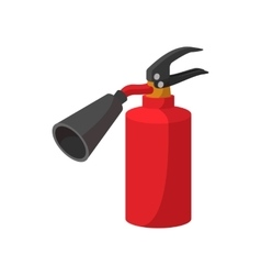 Fire extinguisher cartoon icon vector