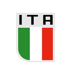 Flag of Italy icon vector image