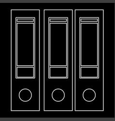 Folders white path icon vector
