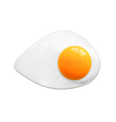 fried egg fast food cooking lunch dinner vector image