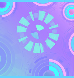 futuristic circles background pattern vector image